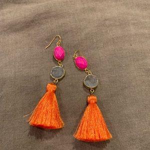 Jewelry - Orange Tassel Earrings!
